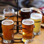 flight of 6 different beers