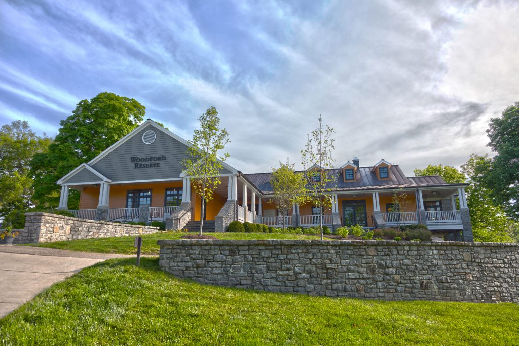 bourbon academy: Front view of Woodford Reserve building