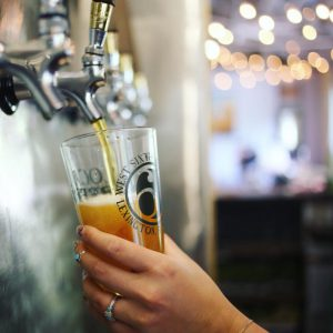 lexington: craft beer poured from tap