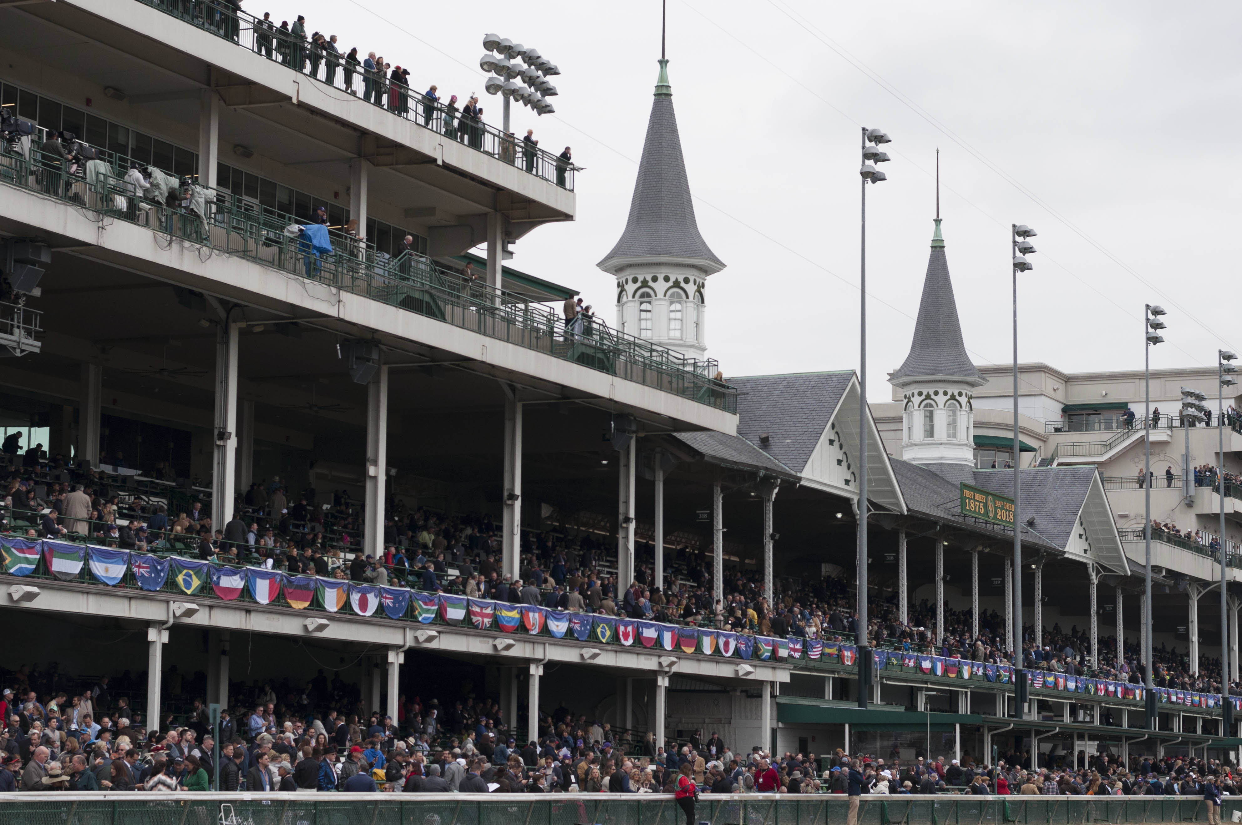 churhill downs with a large crowd