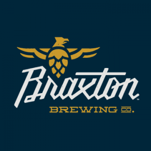 braxton brewing company logo with navy background
