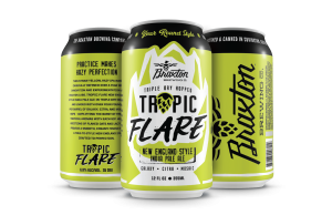 """stock photo of green cans that say """"tropic flare"""""""