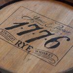 "anniversary: bourbon barrel with ""james e. pepper 1776 rye"" burned into it"