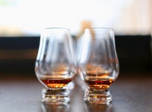 Bourbon County taste-off: glasses filled with bourbon