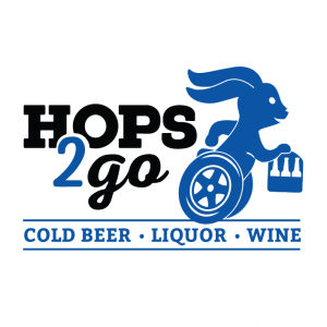 logo of alcohol delivery service that is closing, hops2go