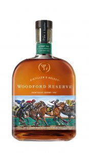 Kentucky Derby: a bottle with artwork of horses racing