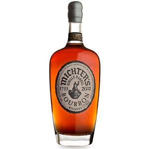 liquor barn: bottle of bourbon with a white background