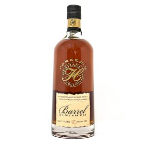 Liquor Barn: a thicker bottle of bourbon with a dark lid
