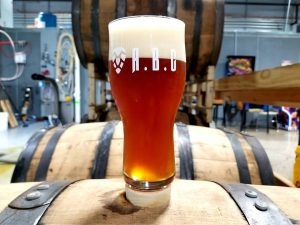 Kentucky Brewing Company: glass of beer that says abc on a barrel