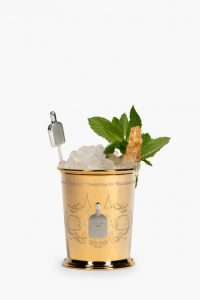 Woodford Reserve gold plated mint julep cup