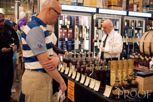 Total Wine: a line of people looking at bourbon