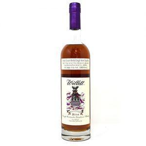 Liquor Barn: bottle of bourbon with a purple foil
