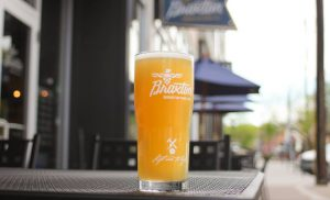 Braxton Brewing Company: glass of beer on a table outside