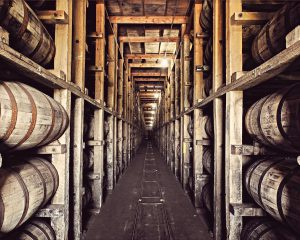Four Roses: barrel stack warehouse
