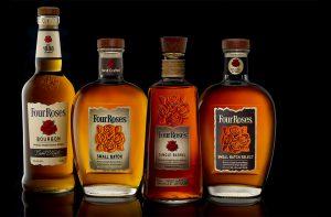 Four Roses bottles