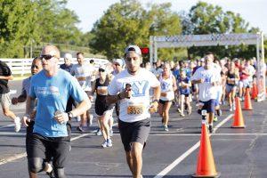 Beer: people beginning a race
